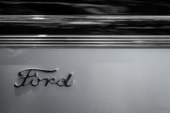 old ford car door with ford badge